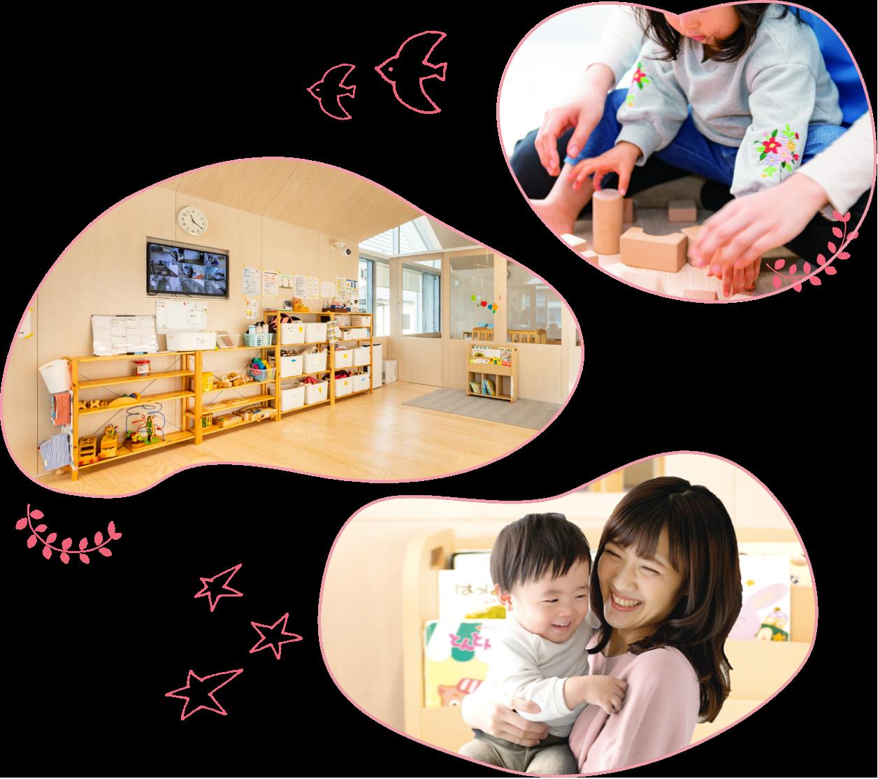 子どもを育てる社員のために、専用の託児施設を設けます