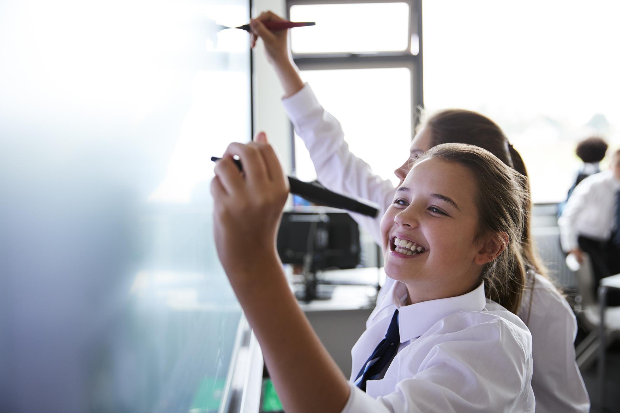 学校の授業や会議室に。タブレットやPCの画面を表示してタッチペンで書き込みも可能。